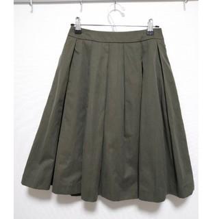 アンレリッシュ(UNRELISH)のUNRELISH カーキ スカート(ひざ丈スカート)