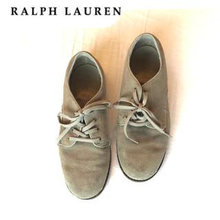 POLO RALPH LAUREN - ポロ ラルフローレン  スウェードレザーフラットシューズスニーカー