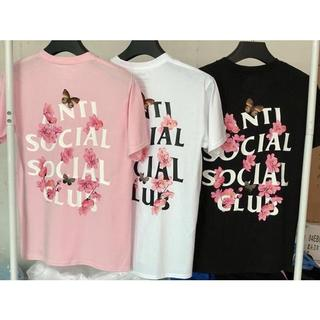 Anti social social club Tシャツ ピンク