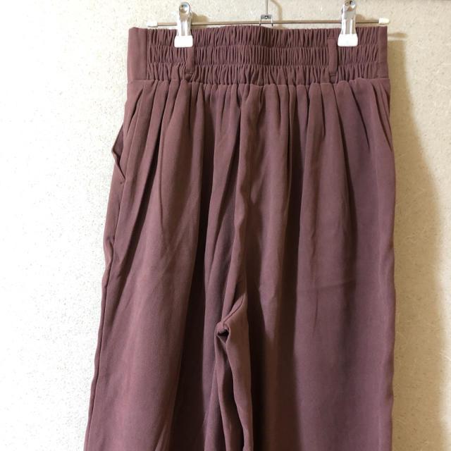 しまむら(シマムラ)のくすみピンク ワイドパンツ レディースのパンツ(カジュアルパンツ)の商品写真