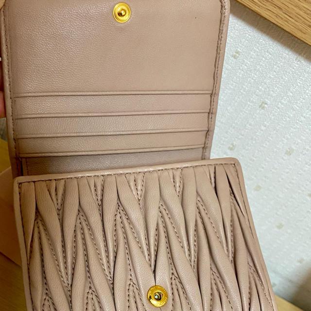 miumiu(ミュウミュウ)のmiumiu マテラッセ レザー 三つ折財布 レディースのファッション小物(財布)の商品写真
