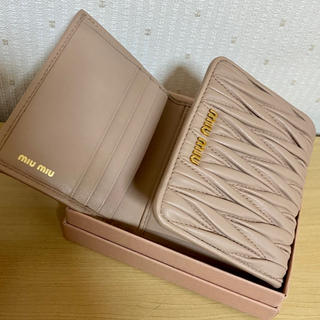 miumiu - miumiu マテラッセ レザー 三つ折財布