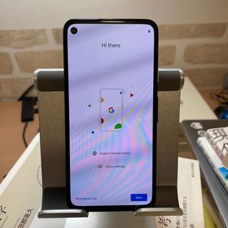 pixel4a 純正ファブリックケース(青)付き 美品