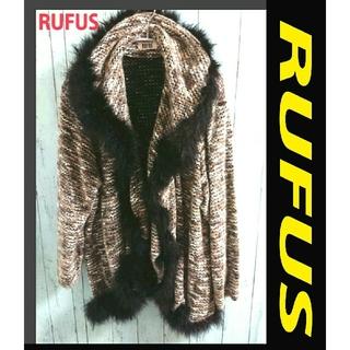 アートコレクション(Art Collection)のRUFUS ビッグサイズ ファー付 ジャケット ブルゾン  アウター トップス(毛皮/ファーコート)