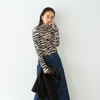 SeaRoomlynn - シールームリン ★ ハイネック ジャージ ゼブラ カットソー