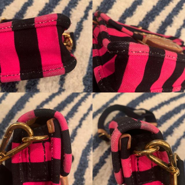 PRADA(プラダ)のプラダ キャンバス生地ボーダー柄ショルダーバッグ レディースのバッグ(ショルダーバッグ)の商品写真