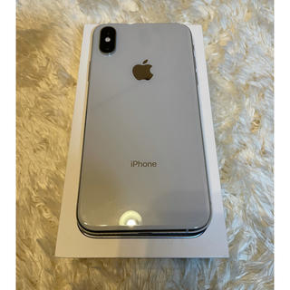 iPhone - 美品 iphone XS 64GB SILVER SIMフリー