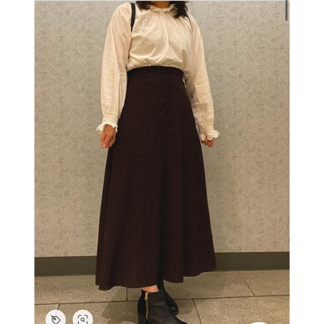 LOWRYS FARM(ローリーズファーム)のLOWRYSFARM レオパードAラインスカート レディースのスカート(ロングスカート)の商品写真