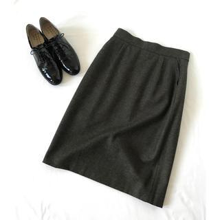 MARGARET HOWELL - マーガレットハウエル ウールスカート ひざ丈スカート オフィスカジュアルにも