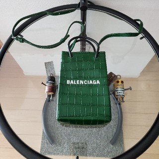 Balenciaga - 【BALENCIAGA】ショッピング フォンホルダーバッグ (クロコダイル柄)
