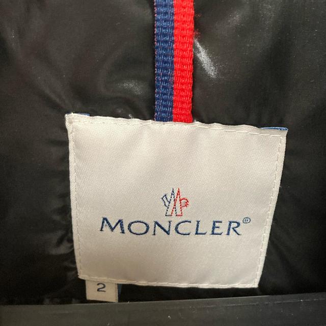 MONCLER(モンクレール)のモンクレール 黒 美品 2 メンズのジャケット/アウター(ダウンジャケット)の商品写真