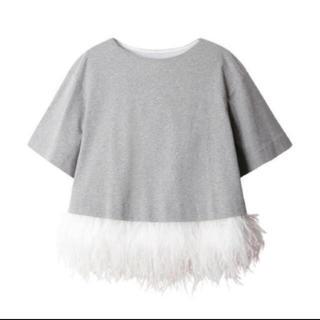 ルシェルブルー(LE CIEL BLEU)のフェザートップス 新品未使用タグ付✨(Tシャツ(半袖/袖なし))