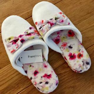 Francfranc - フランフラン スリッパ ルームシューズ リボン フラワー 花柄
