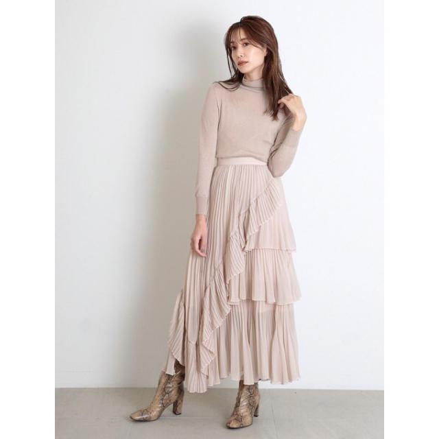snidel(スナイデル)のスナイデル シアーボリュームプリーツスカート レディースのスカート(ロングスカート)の商品写真