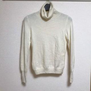 UNIQLO - ユニクロ カシミヤ100% タートルネックセーター オフホワイトLサイズ
