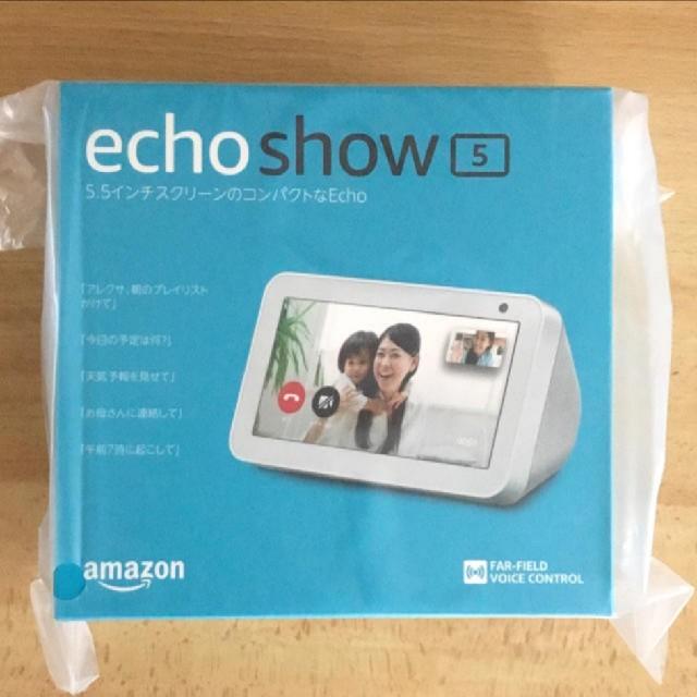 Echo Show 5 (エコーショー5) スクリーン付きスマートスピーカー スマホ/家電/カメラのオーディオ機器(スピーカー)の商品写真