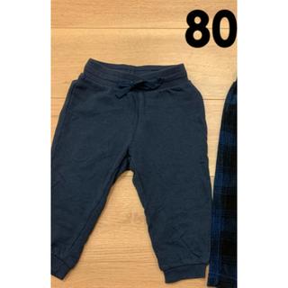 UNIQLO - H&M & UNIQLO  パンツ 2点 80cm
