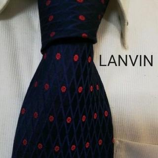 LANVIN - 大人気★ランバンLANVIN★気品溢れる花柄高級シルクネクタイ★エレガント