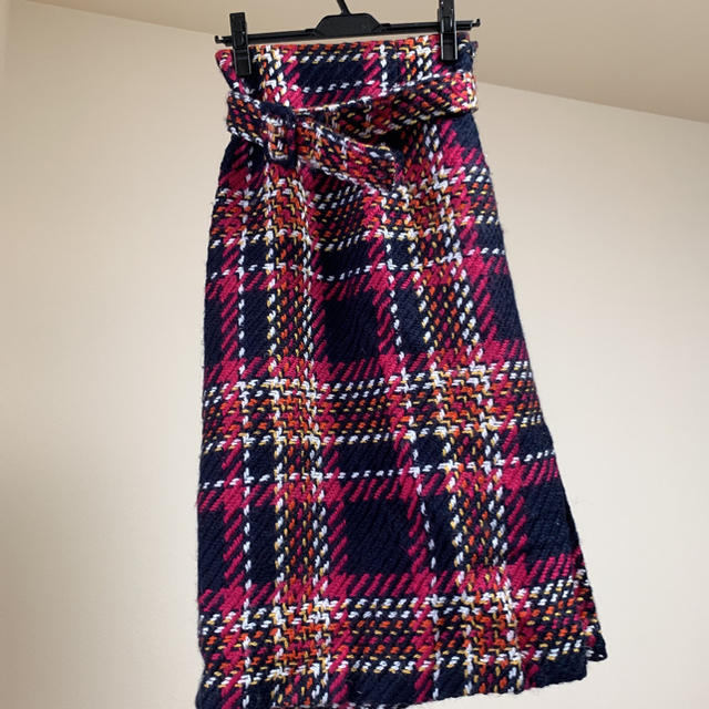 Mila Owen(ミラオーウェン)のミラオーウェン チェックスカート レディースのスカート(ひざ丈スカート)の商品写真