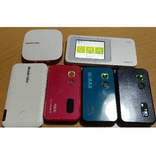 エヌイーシー(NEC)のwimax WiFiルーター 6台 データ端末 4台(その他)