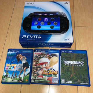 PlayStation Vita - SONY PlayStationVITA (本体、箱、AC、USB)+ソフト3本