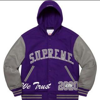 Supreme - Supreme King Hooded Varsity Jacket
