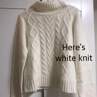 HERE'S - here's white knit