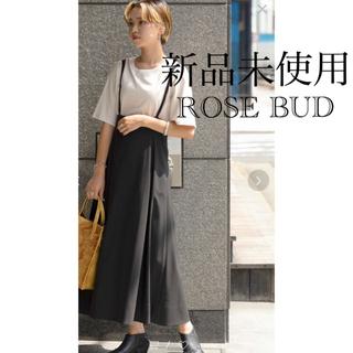 ローズバッド(ROSE BUD)の新品未使用❣️ローズバッド❣️ストラップフレアースカート 定価9800円+税(ロングスカート)