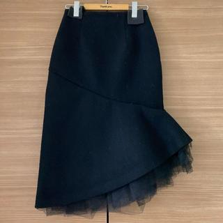 LE CIEL BLEU - 美品 LECIELBLEU コレクションライン アシメウールスカート