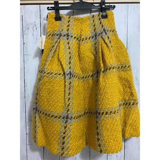 Lily Brown - リリーブラウン ツイードスカート 膝丈