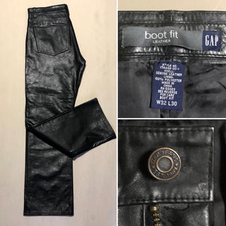 ギャップ(GAP)のGAP Black-Leather Pant (5P) Size W32 L30(デニム/ジーンズ)