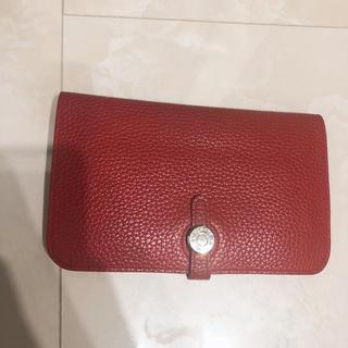 Hermes - 革 財布 レッド 赤