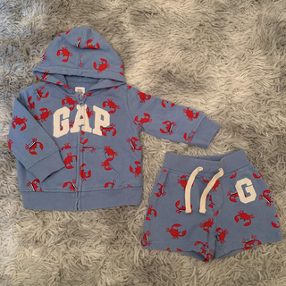 babyGAP - Babygap カニ柄 パーカー、ショーパン セットアップ