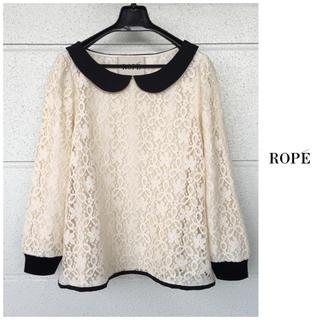 ROPE - ROPE【洗える】総レース Aライン コットンポリエステル ブラウス