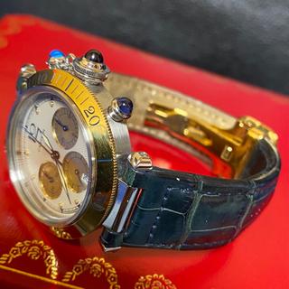 カルティエ(Cartier)のカルティエ パシャ 38mm クロノグラフ YG/SS コンプリート済み(レザーベルト)
