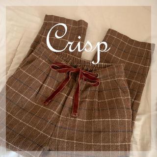 クリスプ(Crisp)の【橋下美好ちゃん着用】【mer掲載】crisp チェックパンツ(カジュアルパンツ)