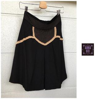 アナスイ(ANNA SUI)のアナスイ アンティーク風デザイン アメリカ製 シルク とろみ スカート(ひざ丈スカート)
