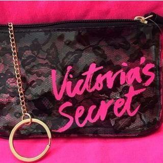 ヴィクトリアズシークレット(Victoria's Secret)のヴィクトリアシークレット レース柄ポーチ(ポーチ)