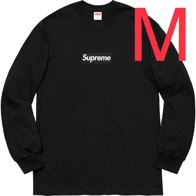 Supreme(シュプリーム)の黒 M Supreme Box Logo L/S Tee シュプリーム  メンズのトップス(Tシャツ/カットソー(七分/長袖))の商品写真