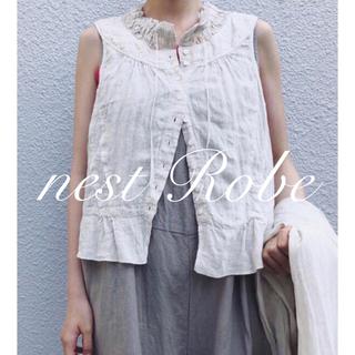 nest Robe - * nest Robe * 2018 吉備リネンタイネックレース付きブラウス