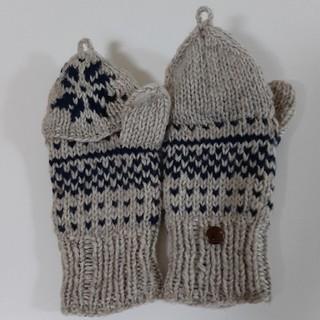 トゥモローランド(TOMORROWLAND)のハンドメイド 編み込み手袋 裏地フリース付き(手袋)