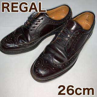REGAL - REGAL リーガル ウイングチップ ダークブラウン 26cm