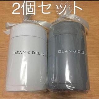 ディーンアンドデルーカ(DEAN & DELUCA)のDEAN & DELUCA スープポット300ml ホワイト&チャコールグレー(弁当用品)