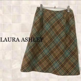 ローラアシュレイ(LAURA ASHLEY)のローラアシュレイ チェックスカート ひざ丈スカート(ひざ丈スカート)