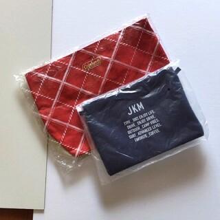 コールマン(Coleman)の新品 コールマントート レッド JKM ポーチ ネイビー セット 赤 紺色 (トートバッグ)