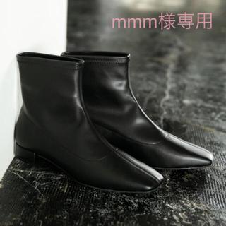 ローリーズファーム(LOWRYS FARM)の【mmm様専用】LOWRYSFARM ストレッチローブーツ ブラック・Lサイズ(ブーツ)