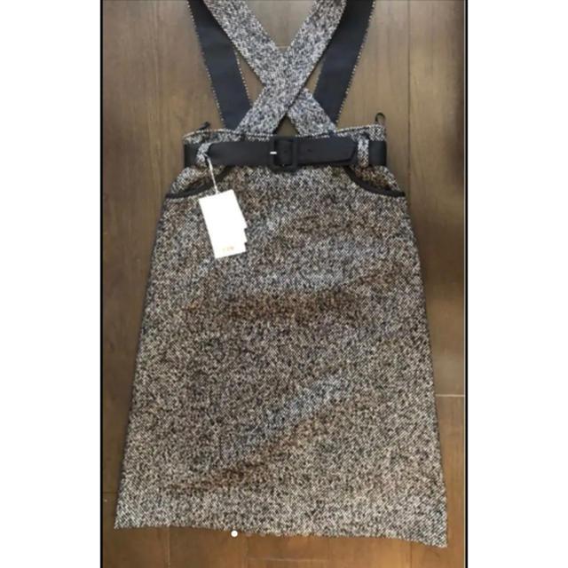 M'S GRACY(エムズグレイシー)の未使用!【M's GRACY】サロペットスカート レディースのスカート(ひざ丈スカート)の商品写真