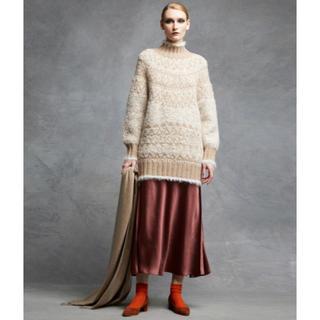Drawer - 【一度着用】即完売 今季 Drawer ドゥロワー サテンフレアロングスカート
