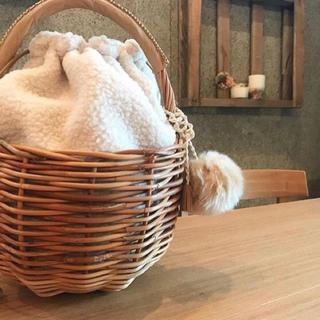 カゴバッグ(ファー巾着袋付き)kargo