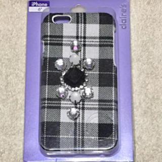 クレアーズ(claire's)の新品❤️iphone6 ビジュー付きモノトーンケース(iPhoneケース)